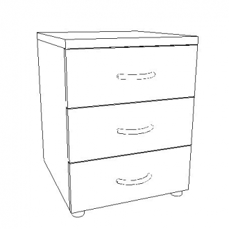 Three Drawer Mobile File